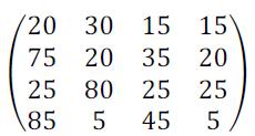 Используя критерии: максимаксный, Вальда, Гурвицы с δ= ½, Сэвиджа, решить игру с природой, заданную платежной матрицей