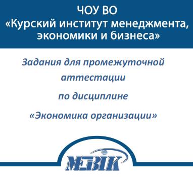 МЭБИК Экономика организации