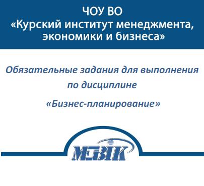 МЭБИК Бизнес-планирование