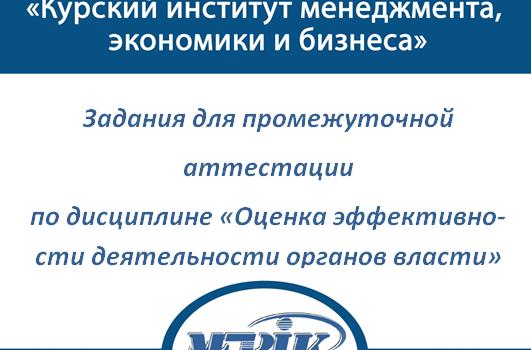 МЭБИК Оценка эффективности деятельности органов власти